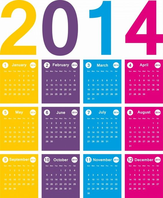 Free + New 2014 Calendar Designs! Large Size Images