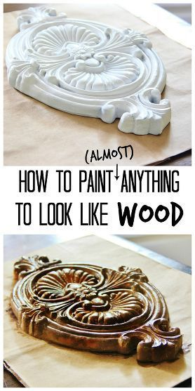 Here's an easy tutorial on how to paint (almost) anything to look like wood!.