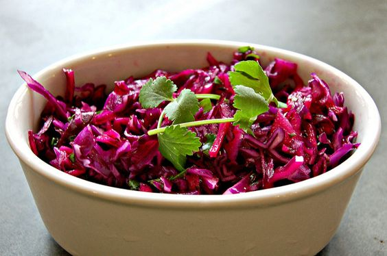 Red Cabbage, Cilantro, Lime & Honey Slaw by Eve Fox, Garden of Eating blog copyright 2011
