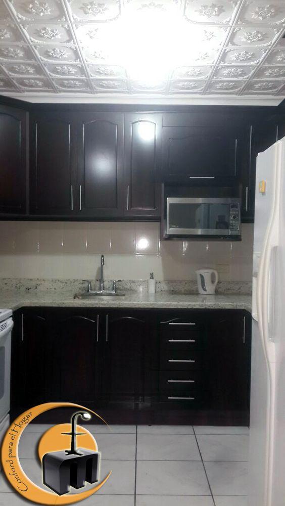 Mueble cocina estructura melamina con las puertas con - Mueble alto microondas ...