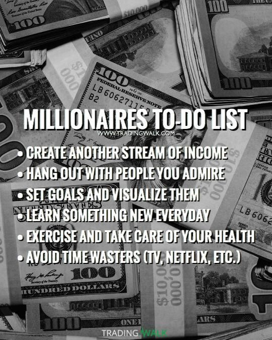Millionaires To Do List Habits You Can Use To Become Rich And