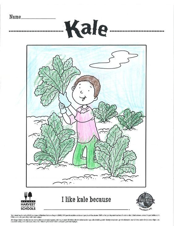 Such A Great Coloring Kale And Leafy Greens Artwork Veggies