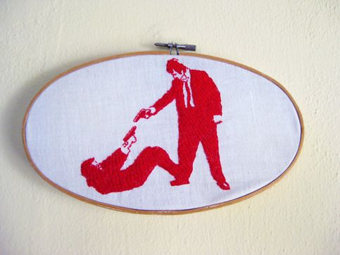 Reservoir Dogs Embroidery. $45.00