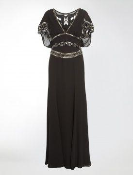 Alice Temperley Long Jean Dress in Black