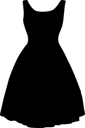 Robe silhouette vecteur gratuit and pochoir silhouette on pinterest