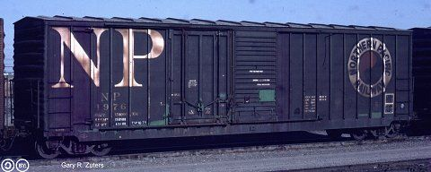 NP, Northern Pacific 50' Plug Sliding Door Boxcar, 1976 June 16th, 1982