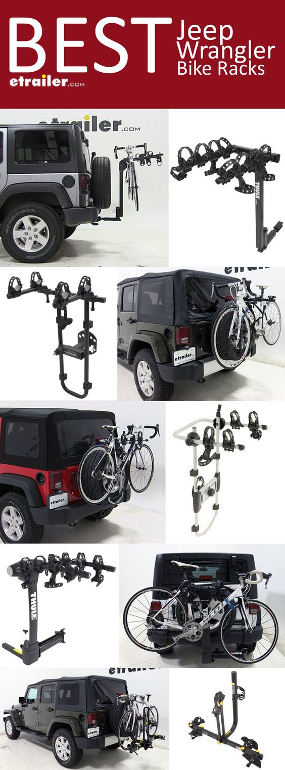 Here is the complete list of the Best Jeep Wrangler Bike Racks. Find the perfect fit bike rack to tilt, swing, fold, provide anti-sway, 2-bike carrier, 3-bike carrier, 4-bike carrier, platform bike rack, spare tire mount bike rack and hitch mounted bike rack.
