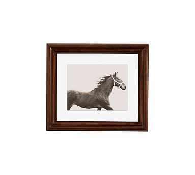 "Vintage Horse by Jennifer Meyers, 13 x 11"", Ridged Distressed, Espresso, Mat"