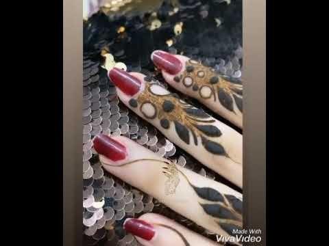 نقش حناء خليجي للمبدعه اموول Youtube Henna