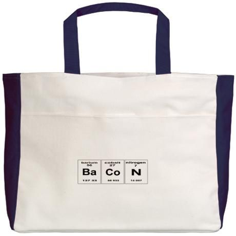 Bacon elements Beach Tote