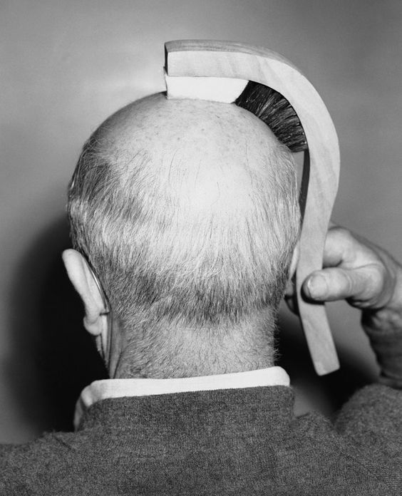 Crappy inventions of the 1950's - Bald Head Polishers for the more 'follically challenged' Redditors