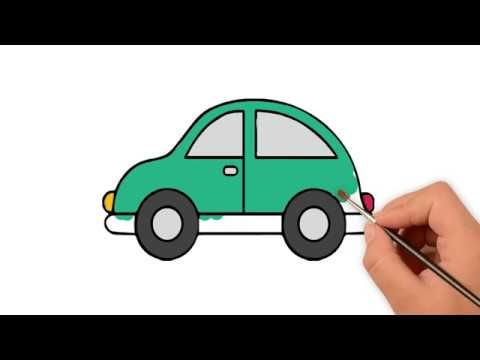 How To Draw Toy Car Cute Art For Kids Car Drawing Kids Cute Cars Easy Drawings For Kids
