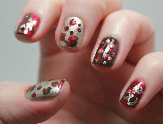 Oct 4th - Put some Polish on It: chocolate cherry leopard