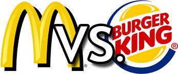 Mc Donalds versus de Burger Kings