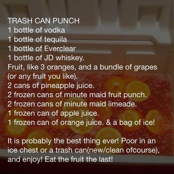 FLOAT TRIP drink #2- trash can punch!!  Ummmmm.... YES!