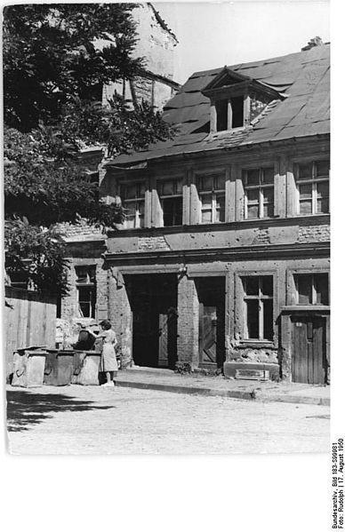 August 1950 Grosser Juedenhof in Alt-Berlin