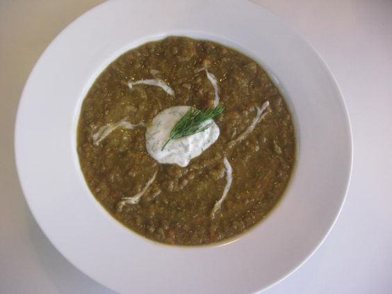 Lentil Soup with Rhubarb