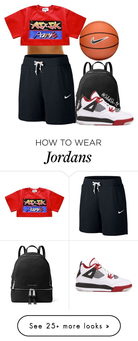 """Untitled #377"" by childish-tc on Polyvore featuring NIKE and MICHAEL Michael Kors"