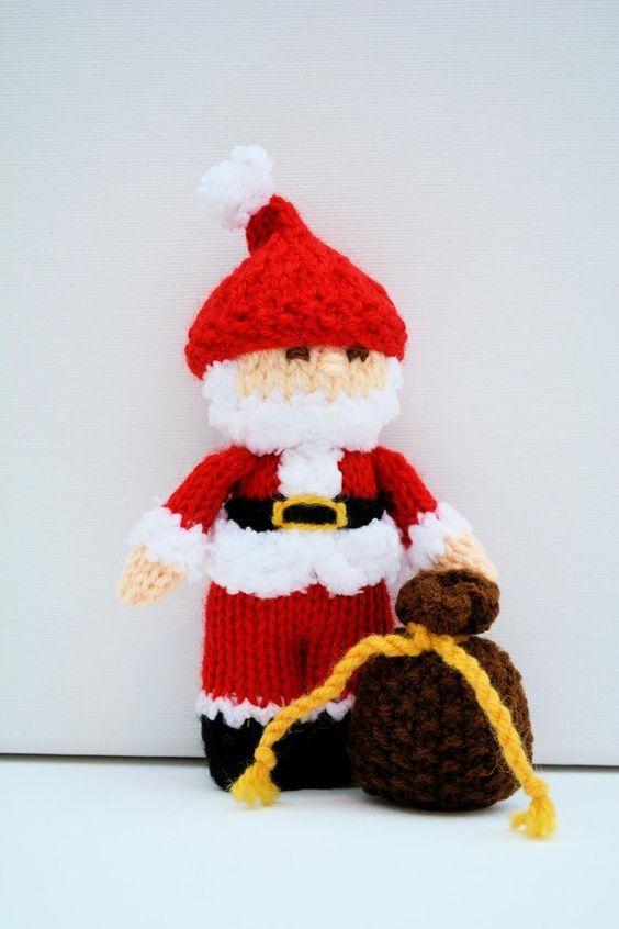 Santa Claus Doll - Beginners Knitting PatternDESCRIPTION Height