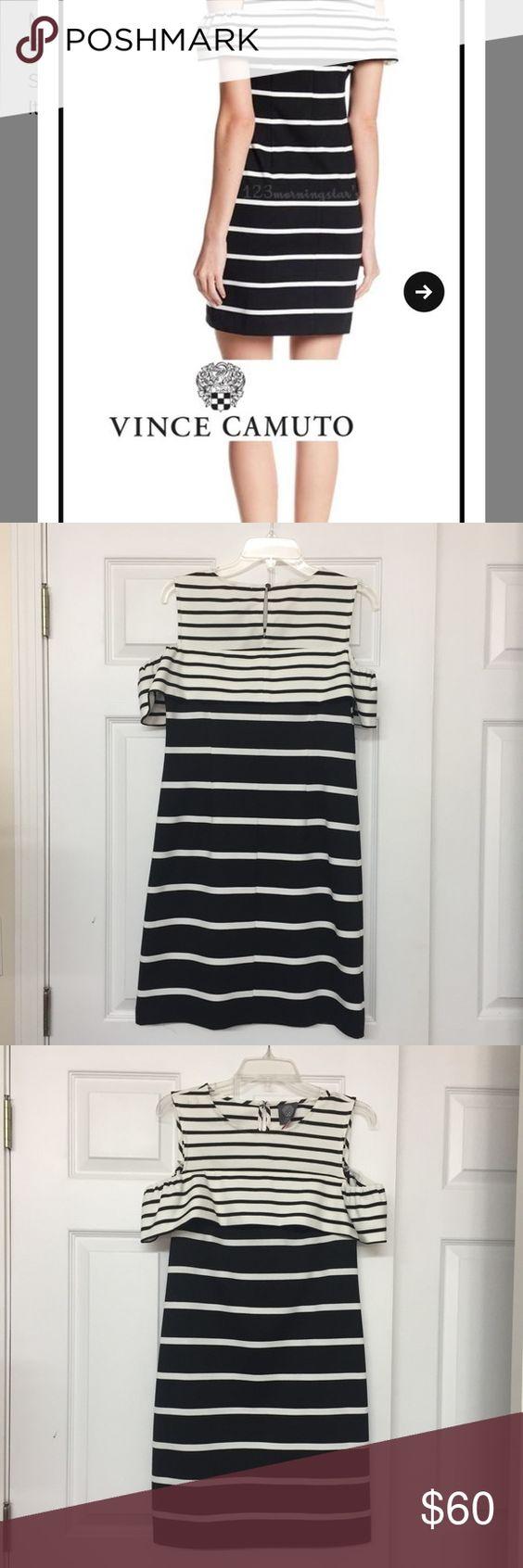Vince Camuto Striped Cold Shoulder Shift Dress Black And White Striped Shift Dress With Cold Shoulder Cold Shoulder Shift Dress Shift Dress Striped Shift Dress [ 1692 x 564 Pixel ]