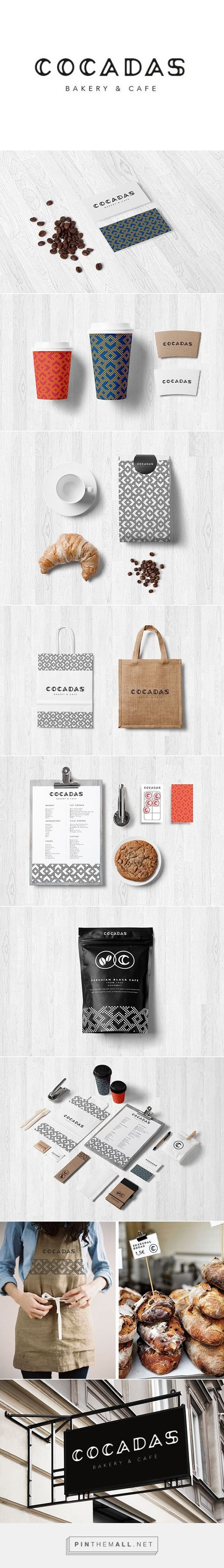 C O C A D A S - Bakery & Cafe on Behance by Laia Gubern curated by Packaging Diva PD. Tasty identity packaging branding. Who wants to go : ) 2015 top team pin.