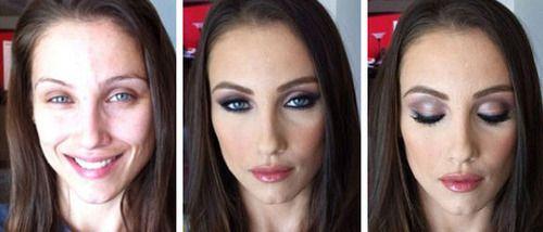 Porn-Stars. L'abans i el desprès del maquillatge de Melissa Murphy.