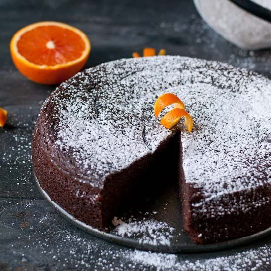 This Flourless Chocolate Orange Cake comes together in the ...