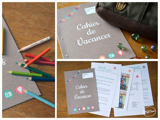 Cahier de vacances spécialement conçu pour les instits !