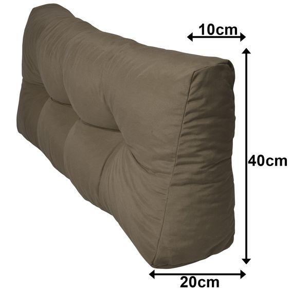 Paletten-Kissen - Rückenkissen 120x40x10-20 cm - Palettenauflage - küche aus paletten