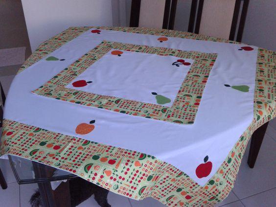 Toalhas de mesa redonda de patchwork