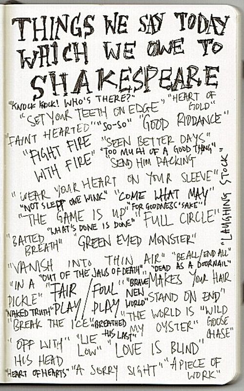 Phrases we got from Shakespeare