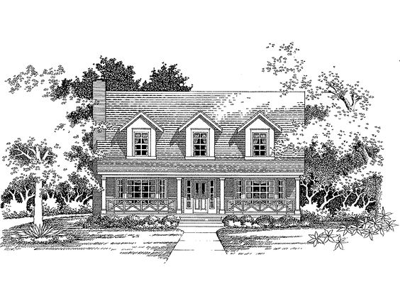 Country House Plan with 1967 Square Feet and 3 Bedrooms from Dream Home Source | House Plan Code DHSW36756