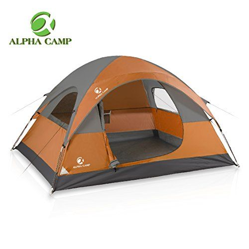 Alpha Camp Dome Tent 3 Person Dome Camping Tent With Carry Bag 8 X 7 Orange All4hiking Com Backpacking Tent Tent 4 Person Camping Tent