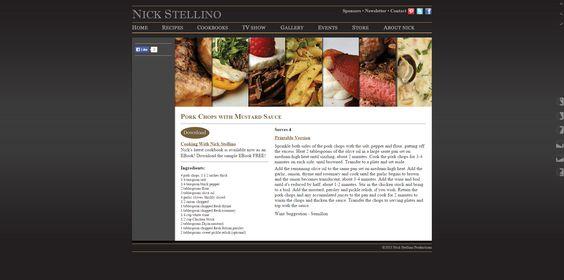 Nick Stellino - Pork Chops with Mustard Sauce