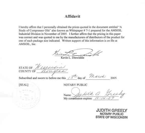 California Sworn Affidavit Form Template