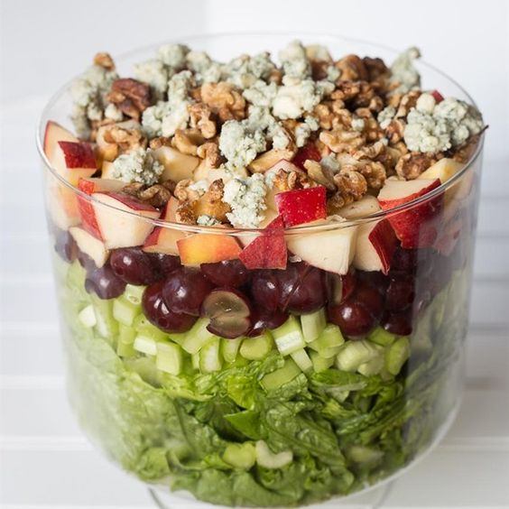 """Layered Waldorf Salad 