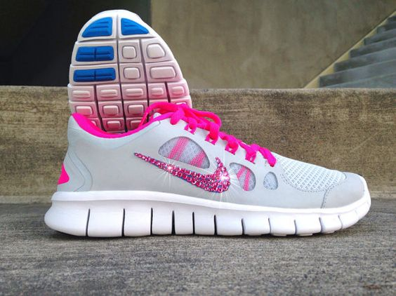 new style d0ca3 2d6be white nike running shoe with glitter