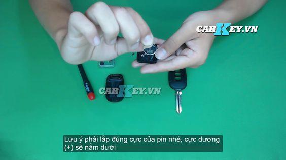 Thay pin chìa khóa Chevrolet Captiva - carkey.vn