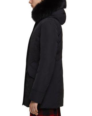 Woolrich John Rich Bros Fur Trim Luxury Arctic Parka Black Parka Fur Trim Winter Jackets