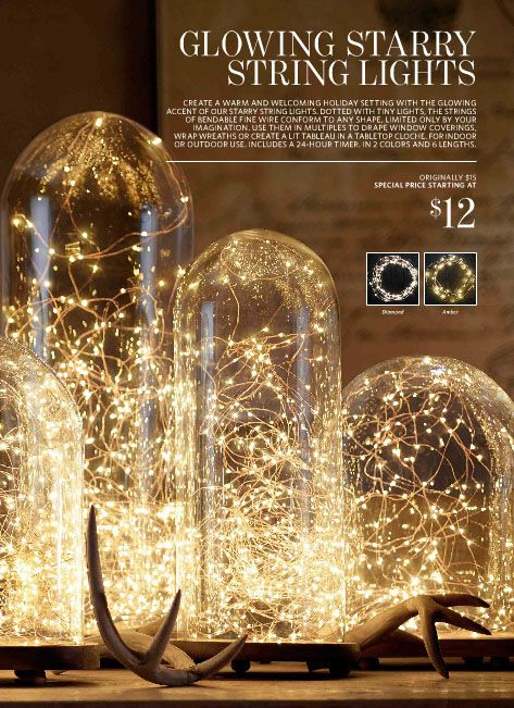 Glowing Starry String Lights from Restoration Hardware. Starting at $12 - Glowing Starry String Lights From Restoration Hardware. Starting