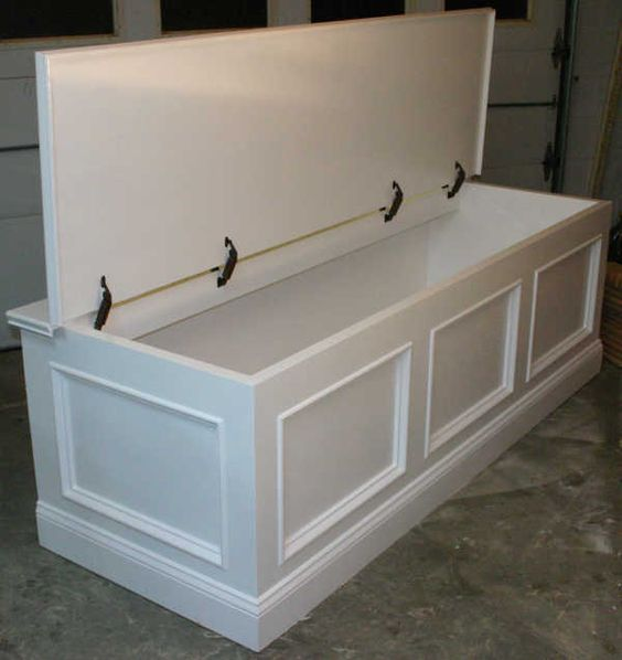 Long Storage Bench Plans Google Search Diy Furniture Pinterest Bench Under Windows