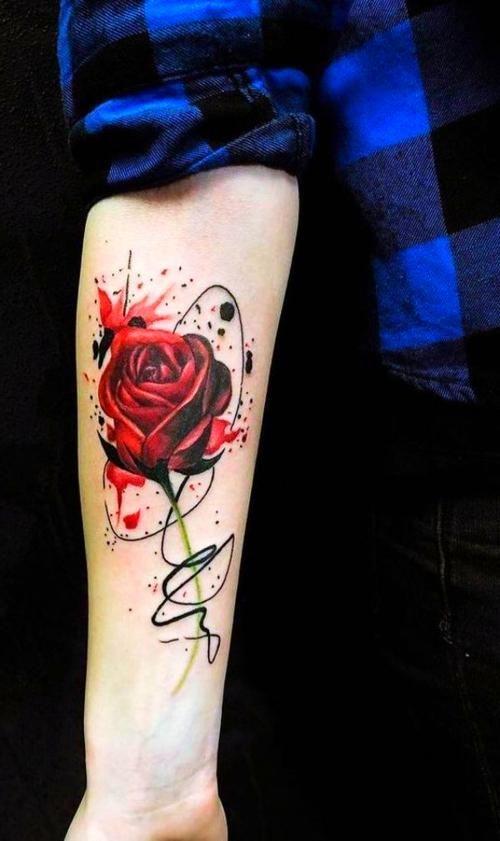 Watercolor Tattoos Men Tattoo Ideas In 2020 Watercolour Tattoo Men Watercolor Rose Tattoos Rose Tattoos For Men,Modern Scandinavian Small House Design