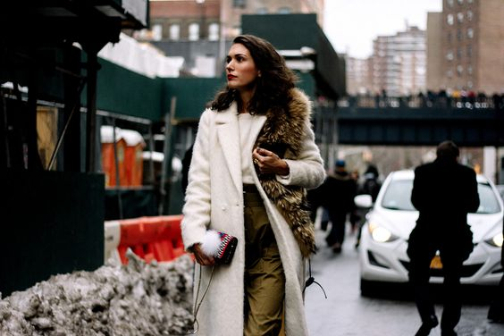 Street style new york fashion week otono invierno 2017: