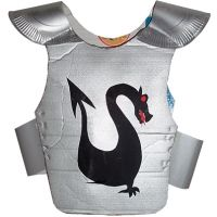 Armure de chevalier au dragon noir
