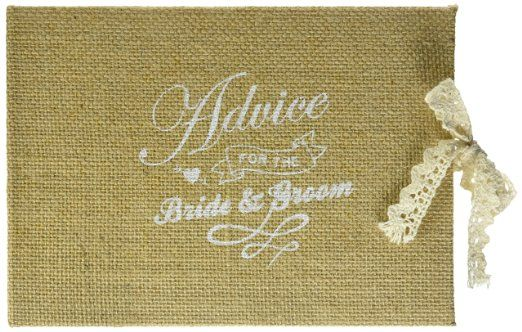 "Ginger Ray - Libro vintage per gli invitati a nozze, motivo: ""Advice for the Bride & Groom"""