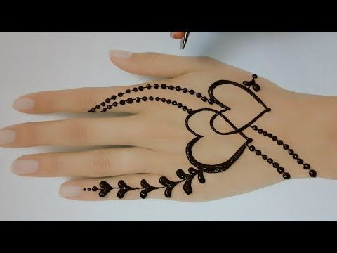 modern back hand mehndi design for kids