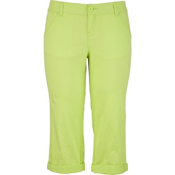 Chino Capri ($4.99) ❤ liked on Polyvore featuring pants, capris ...