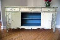 Quiet Riot -- Blue inside! Annie Sloan Chalk Paint custom color.  www.malenka.ca/...