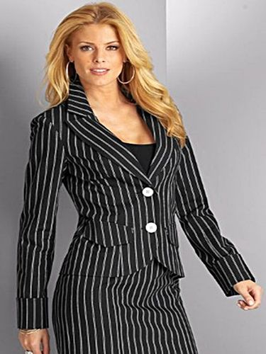 women's pinstriped suit | clothes | Pinterest | Lady, For women