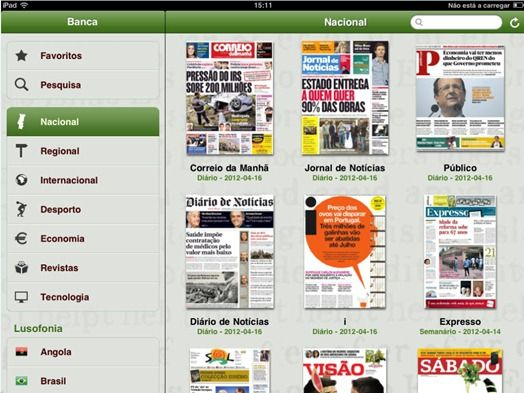 Banca de Jornais e Revistas do Sapo no Android e iOS